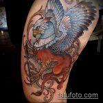 фото тату грифон №682 - эксклюзивный вариант рисунка, который легко можно использовать для доработки и нанесения как тату грифон птица