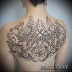 фото тату грифон №477 - классный вариант рисунка, который хорошо можно использовать для переделки и нанесения как тату грифон птица