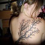 фото тату дерево №20 - крутой вариант рисунка, который удачно можно использовать для переработки и нанесения как тату дерево ель