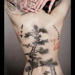 фото тату дерево №101 - эксклюзивный вариант рисунка, который успешно можно использовать для доработки и нанесения как тату рукав деревья