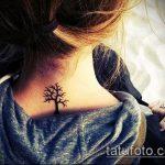 фото тату дерево №328 - интересный вариант рисунка, который удачно можно использовать для переработки и нанесения как тату рукав деревья