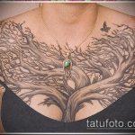 фото тату дерево №825 - уникальный вариант рисунка, который хорошо можно использовать для доработки и нанесения как тату дерево акварель