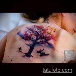 фото тату дерево №559 - прикольный вариант рисунка, который легко можно использовать для преобразования и нанесения как маленькие тату дерево