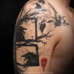 фото тату дерево №698 - достойный вариант рисунка, который хорошо можно использовать для переделки и нанесения как тату дерево на запястье