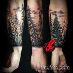 фото тату дерево №800 - классный вариант рисунка, который удачно можно использовать для переработки и нанесения как тату на икре дерево