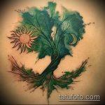 фото тату дерево №538 - прикольный вариант рисунка, который успешно можно использовать для доработки и нанесения как тату деревья на предплечье