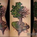 фото тату дерево №543 - достойный вариант рисунка, который легко можно использовать для доработки и нанесения как тату деревья лес