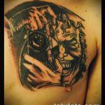 фото тату джокер №243 - достойный вариант рисунка, который легко можно использовать для переработки и нанесения как тату джокер в стиле реализм