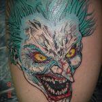 фото тату джокер №694 - прикольный вариант рисунка, который успешно можно использовать для переработки и нанесения как тату джокер на руку