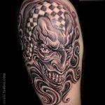 фото тату джокер №701 - прикольный вариант рисунка, который хорошо можно использовать для преобразования и нанесения как тату джокер из бэтмена