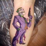 фото тату джокер №441 - интересный вариант рисунка, который удачно можно использовать для доработки и нанесения как тату джокер и харли