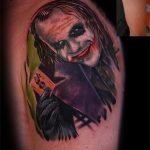 фото тату джокер №191 - крутой вариант рисунка, который хорошо можно использовать для преобразования и нанесения как тату джокера из отряда