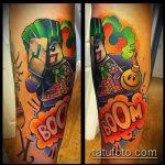 фото тату джокер №890 - достойный вариант рисунка, который удачно можно использовать для доработки и нанесения как тату джокер злой