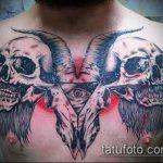 фото тату козел №373 - уникальный вариант рисунка, который хорошо можно использовать для переделки и нанесения как тату череп козла