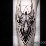 фото тату козел №208 - уникальный вариант рисунка, который удачно можно использовать для преобразования и нанесения как тату козел ест траву