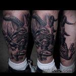 фото тату козел №629 - крутой вариант рисунка, который легко можно использовать для переделки и нанесения как тату козел на запястье