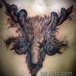 фото тату козел №847 - эксклюзивный вариант рисунка, который легко можно использовать для преобразования и нанесения как тату козел и ножи атомы