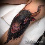 фото тату козел №779 - классный вариант рисунка, который удачно можно использовать для доработки и нанесения как тату череп козла