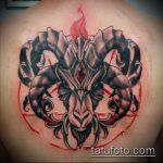 фото тату козел №829 - достойный вариант рисунка, который удачно можно использовать для доработки и нанесения как тату череп козла
