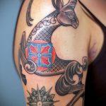 фото тату козел №338 - достойный вариант рисунка, который успешно можно использовать для переработки и нанесения как тату козел ест траву