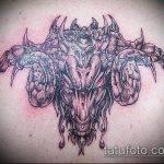 фото тату козел №680 - прикольный вариант рисунка, который удачно можно использовать для переделки и нанесения как тату козел на запястье