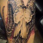 фото тату козел №27 - интересный вариант рисунка, который хорошо можно использовать для переделки и нанесения как тату козел ест траву