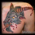 фото тату козел №609 - интересный вариант рисунка, который легко можно использовать для переделки и нанесения как тату козел на запястье