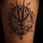 фото тату козел №775 - уникальный вариант рисунка, который легко можно использовать для преобразования и нанесения как тату козел на запястье