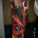 фото тату козел №753 - прикольный вариант рисунка, который хорошо можно использовать для доработки и нанесения как тату череп козла
