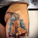 фото тату козел №553 - достойный вариант рисунка, который успешно можно использовать для преобразования и нанесения как тату козел на запястье