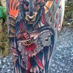 фото тату козел №958 - достойный вариант рисунка, который удачно можно использовать для переделки и нанесения как тату козел ест траву