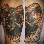фото тату козел №157 - достойный вариант рисунка, который удачно можно использовать для доработки и нанесения как тату козел ест траву