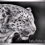 эскиз тату барс №64 - интересный вариант рисунка, который легко можно использовать для переработки и нанесения как тату барс тюремная