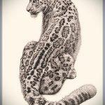эскиз тату барс №784 - эксклюзивный вариант рисунка, который легко можно использовать для преобразования и нанесения как тату барс на руке