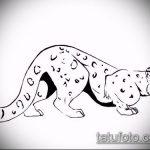 эскиз тату барс №259 - достойный вариант рисунка, который удачно можно использовать для преобразования и нанесения как тату барса на спине