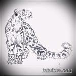 эскиз тату барс №93 - крутой вариант рисунка, который удачно можно использовать для доработки и нанесения как тату барс на спине