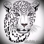 эскиз тату барс №315 - интересный вариант рисунка, который хорошо можно использовать для переделки и нанесения как татуировка барс на плече