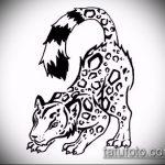эскиз тату барс №222 - достойный вариант рисунка, который хорошо можно использовать для преобразования и нанесения как тату барса на руке