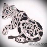 эскиз тату барс №477 - уникальный вариант рисунка, который удачно можно использовать для доработки и нанесения как тату барс на плече