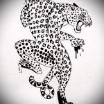 эскиз тату барс №563 - интересный вариант рисунка, который успешно можно использовать для переделки и нанесения как тату барс на запястье
