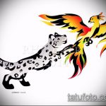 эскиз тату барс №327 - крутой вариант рисунка, который успешно можно использовать для доработки и нанесения как тату барс с пистолетом