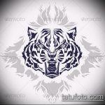 эскиз тату барс №236 - достойный вариант рисунка, который хорошо можно использовать для преобразования и нанесения как тату барс спецназ