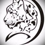 эскиз тату барс №132 - достойный вариант рисунка, который успешно можно использовать для доработки и нанесения как татуировка барс на плече