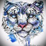 эскиз тату барс №272 - крутой вариант рисунка, который удачно можно использовать для преобразования и нанесения как тату барс надпись