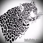 эскиз тату барс №34 - прикольный вариант рисунка, который хорошо можно использовать для доработки и нанесения как тату барс снежный
