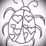 эскиз тату божья коровка №569 - уникальный вариант рисунка, который легко можно использовать для переработки и нанесения как тату божья коровка внизу живота