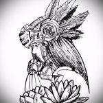 эскиз тату валькирия №116 - интересный вариант рисунка, который удачно можно использовать для преобразования и нанесения как тату валькирия на спину