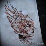 эскиз тату валькирия №160 - эксклюзивный вариант рисунка, который хорошо можно использовать для преобразования и нанесения как тату валькирия оберег