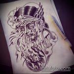 эскиз тату ведьма №988 - прикольный вариант рисунка, который удачно можно использовать для переработки и нанесения как тату ведьма на костре лес