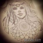 эскиз тату ведьма №428 - классный вариант рисунка, который удачно можно использовать для переделки и нанесения как тату ведьма на костре